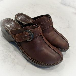 b.o.c Born concept leather clogs size 8